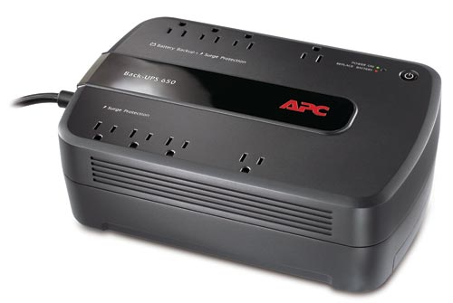 APC Back-UPS, 390 Watts / 650 VA, Input 120V / Output 120V , Interface Port USB