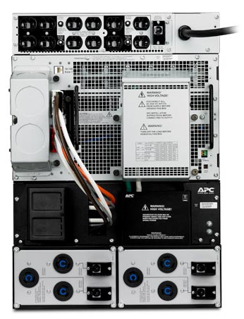 APC Smart-UPS RT 15KVA RM 208V, 208V/120V 5KVA Step-Down Transformer - Back View