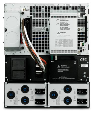 APC Smart-UPS RT 15kVA RM 208V - Back View