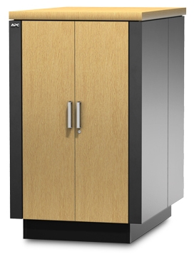 APC NetShelter CX 24U 750 mm Wide x 1130 Deep Enclosure Oak/Grey Finish