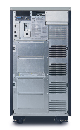 APC Symmetra LX 16kVA Scalable to 16kVA N+1 Tower, 208/240V Input, 208/240V and 120V Output - Back View