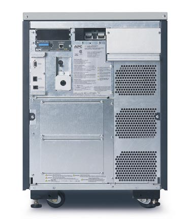 APC Symmetra LX 8kVA Scalable to 8kVA N+1 Tower, 208/240V Input, 208/240V and 120V Output - Back View